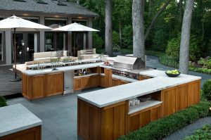 Large U Shape Outdoor Kitchen